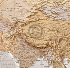 Bishkek Map World Wall Map Canvas 60