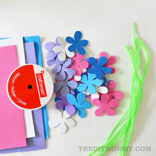 make a floral crown from foam sheets pipe cleaners and ribbon