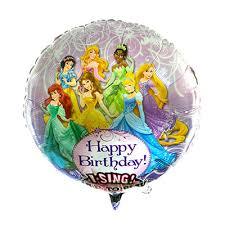 singing birthday balloons singing happy birthday princess 28 foil balloon disney floral