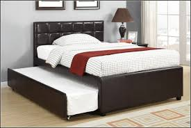 Espresso Twin Trundle Bed Bed U0026 Bedding Make Your Bedroom More Cozy With Awesome Full Size