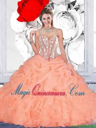 orange quinceanera dresses orange gown straps quinceanera dresses with beading