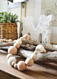 diy wood bead garland my fabuless