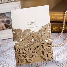 Personalized Wedding Invitations Aliexpress Com Buy 50pieces Wedding Invitation Card Laser Cut