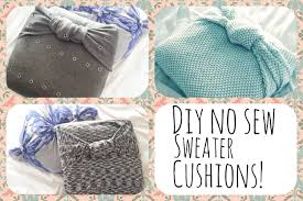 No Sew Slipcover For Sofa by Diy Free No Sew Sweater Pillow Holly Youtube