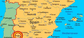 Portugal Spain Map by Seville Spain Map Imsa Kolese