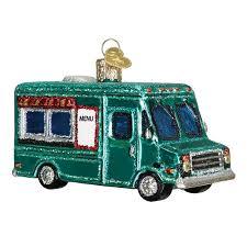 world ornaments food truck glass ornament 46060