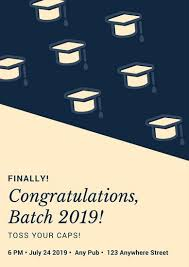 congratulation poster blue graduation congratulations poster templates by canva