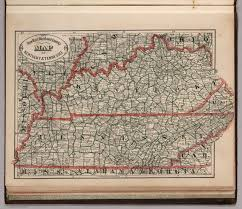 Map Of Tennessee And Kentucky by New Rail Road And County Map Of Kentucky And Tennessee David