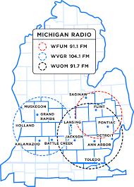 Flint Michigan Map Michigan Radio Listening Area Michigan Radio Sponsorship