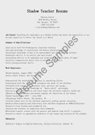 Teachers Resume Example Resume Samples Shadow Teacher Resume Sample