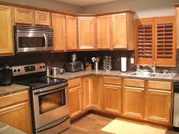 Laminate Flooring For Walls Kitchen Grey Wall Paint And Brown Wooden Oak Cabinet On Laminate