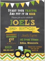 tractor birthday invitations marialonghi com