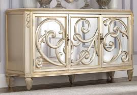Side Table Buffet Furniture Delightful Image Of Gold Mirrored Buffet Table For