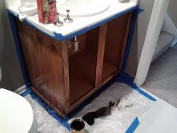 Interior Staining U2013 Alder Wood U2013 Method Drcustompainting by Diy Bathroom Cabinet Light To Dark Conversion Using Minwax