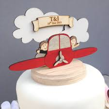 personalised plane wedding cake topper by just toppers