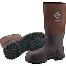 womens size 12 muck boots arctic pro steel toe muck boot in brown mb acp stl the muck