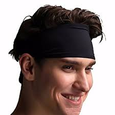 headband men unisex sport headband women men sweat band elastic hair band