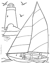Sail Boat Coloring Book Pages 001 Coloring Pages