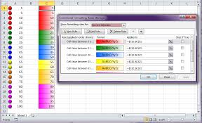 excel using conditional formatting with icon sets with six