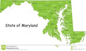 Baltimore Usa Map by Maryland Map Usa Royalty Free Stock Photography Image 7381167