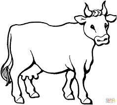 cow 6 coloring page free printable coloring pages