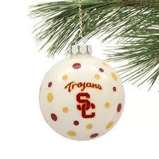 usc trojan glass tree ornament