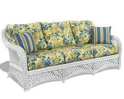 Rattan Sleeper Sofa White Wicker Sofa Lanai Wicker Paradise