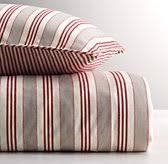 vintage ticking stripe u0026 vintage washed percale bedding collection