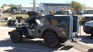 willys army jeep tulsa veteran has eyes set on military jeep at tulsa surplus auc