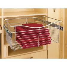 wire shelving magnificent sliding storage bins roll out drawers