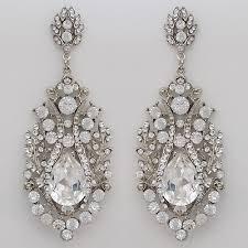 Huge Chandelier Earrings Vintage Hollywood Glam Chandelier Earrings Spectacular Crystal