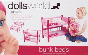Dolls World Wooden Bunk Beds Mr Toys Toyworld - Dolls bunk bed