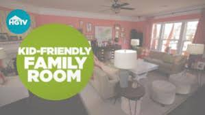 KidFriendly Living Room  Dining Room Decorating Ideas HGTV - Kid friendly family room ideas