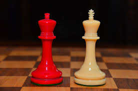 1930 u0027s plexiglass perspex chess set in red and white chess