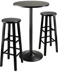 Outdoor Bistro Table Bar Height with Spectacular Deal On 3 Piece Obsidian Bar Height Pub Table Set With