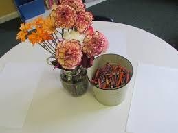 Drawings Of Flowers In A Vase Still Life Flower Drawings In Kindergarten Teach Preschool