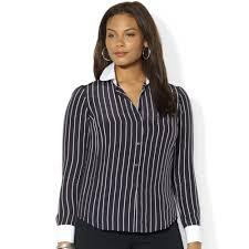 plus size silk blouse lyst by ralph plus size striped silk blouse in black