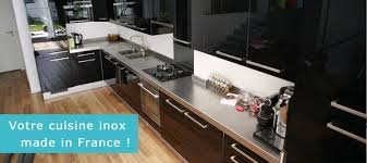 cuisine inox sur mesure plan de travail alu brossé jsgstore us