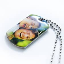 in loving memory dog tags custom photo engrave message pendant dog tag