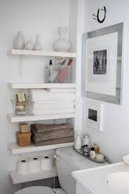 diy custom wood floating corner towel rack and furniture storage