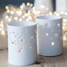 christmas tea light candle holders white christmas tea light holder by the christmas home