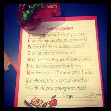 teacher appreciation day u2022 cute letter to teacher with an apple
