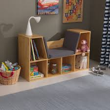 bookcase with reading nook natural