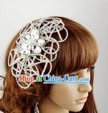 hair decorations design wedding dress and hair decoration complete
