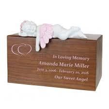 infant urn pink resting angel urn infant urns cremation urns catalog