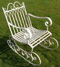 Garden Rocking Chair by Outsunny Metal Single Chair 1 Seater Garden Outdoor Rocking Chair