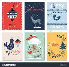 winter holidays cards new year tree stock vector 519805090