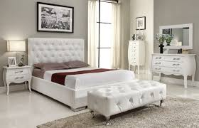 White Michelle Bedroom Set Bedroom Ideas Pinterest Bedrooms - White tufted leather bedroom set