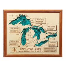 White Lake Michigan Map by Lake Topography Art Hand Crafted Lake Map Topography Art
