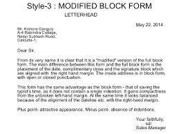 best ideas of modified block letter format with letterhead also